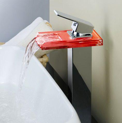 Torneira Monocomando de LED Alta Banheiro  PD0001ALED