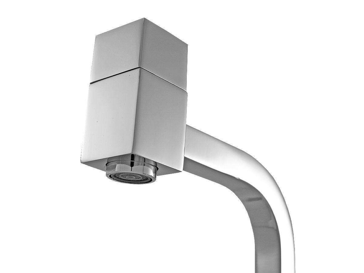 Torneira Quadrada Idralquad 90° Baixa em Metal 1/4 Volta