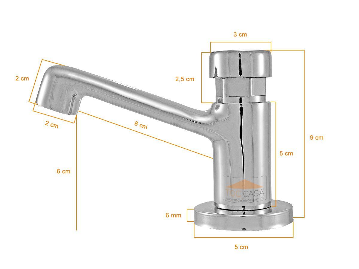 Torneira Temporizada Automática Para Lavatório Banheiro Mesa Metal - Sigmatic 1192