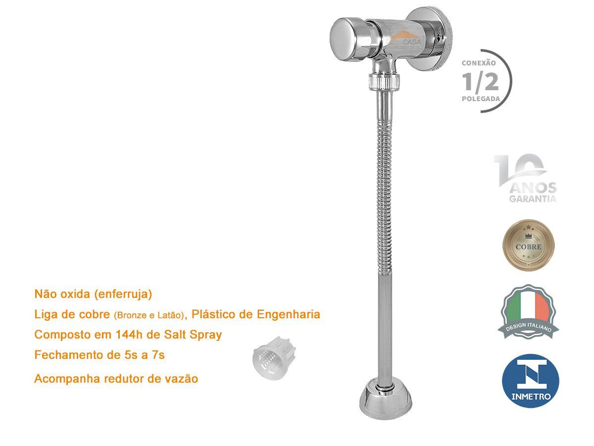 Valvula Temporizada Com Fechamento Automatico Para Mictorio Com 10 Anos de Garantia - Sigmatic 1627