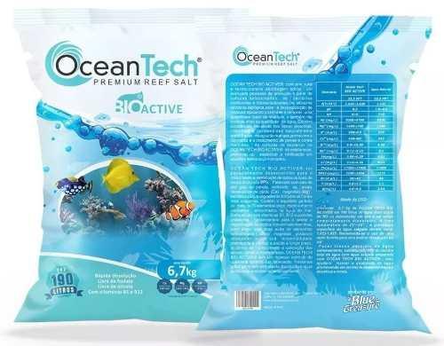 Sal Marinho Ocean Tech 6.7 Kg -190 Litros + Sache Bio Active  - FISHPET