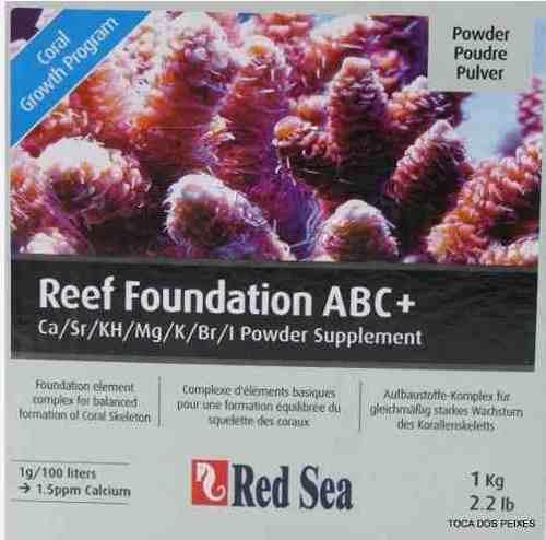 Red Sea Reef Foundation Abc+ 01 Kilo - Kg - Sumplemento   - FISHPET Comércio de Acessórios para Animais Ltda.