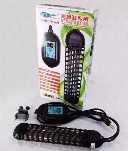 Aquecedor Com Termostato - Hopar Hk-686 - 1000w  - FISHPET