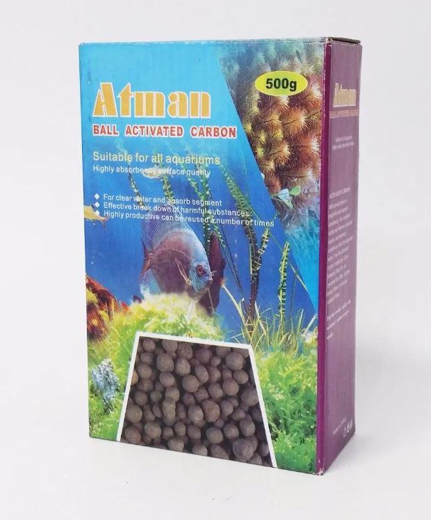 Atman Carvao Ativado Caixa 500g  - FISHPET Comércio de Acessórios para Animais Ltda.
