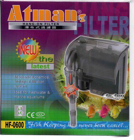ATMAN FILTRO EXTERNO HF-600  - FISHPET Comércio de Acessórios para Animais Ltda.