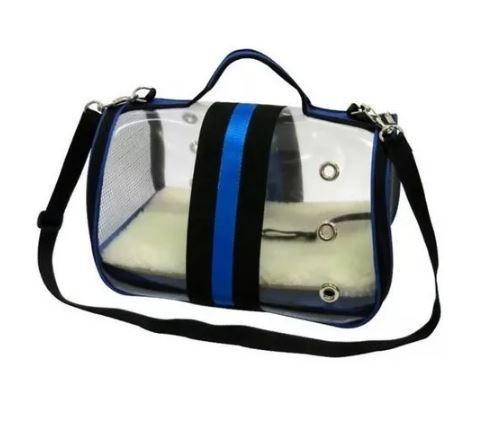 Bolsa De Transporte Para Cães E Gatos Model Glass São Pet Azul  - FISHPET Comércio de Acessórios para Animais Ltda.