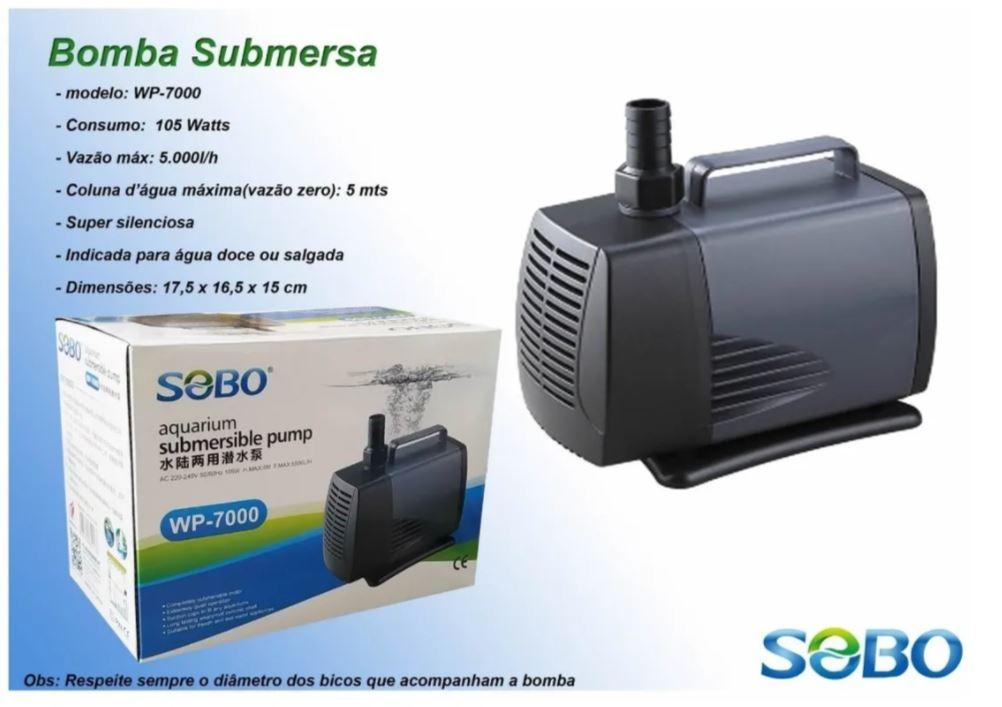 Bomba Recalque  Sobo Wp-7000 5000l/h Para Aquarios Lagos  - FISHPET Comércio de Acessórios para Animais Ltda.