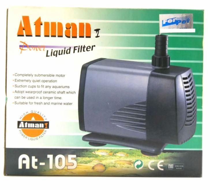 Bomba Submersa Atman At105 2100 Litros De Vazão A 2.8mt  - FISHPET Comércio de Acessórios para Animais Ltda.
