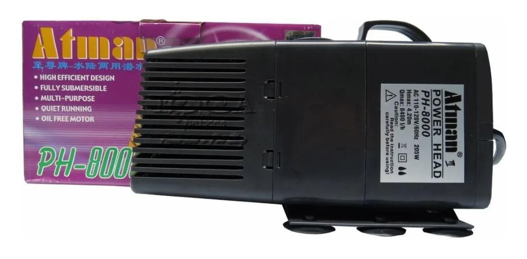 Bomba Submersa Atman Ph 8000 8400l/h  - FISHPET Comércio de Acessórios para Animais Ltda.