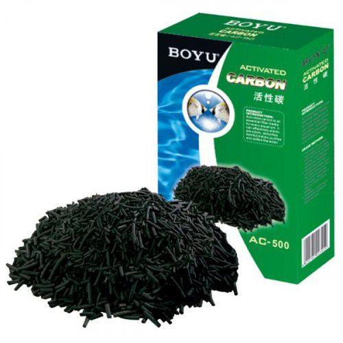 Carvão Ativado Ac 500 Boyu 500 gramas  - FISHPET Comércio de Acessórios para Animais Ltda.