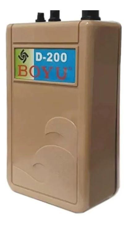 Compressor A Pilha Boyu D200  - FISHPET Comércio de Acessórios para Animais Ltda.