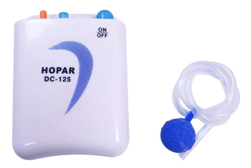 Compressor De Ar À Pilha Hopar Dc-125  - FISHPET Comércio de Acessórios para Animais Ltda.