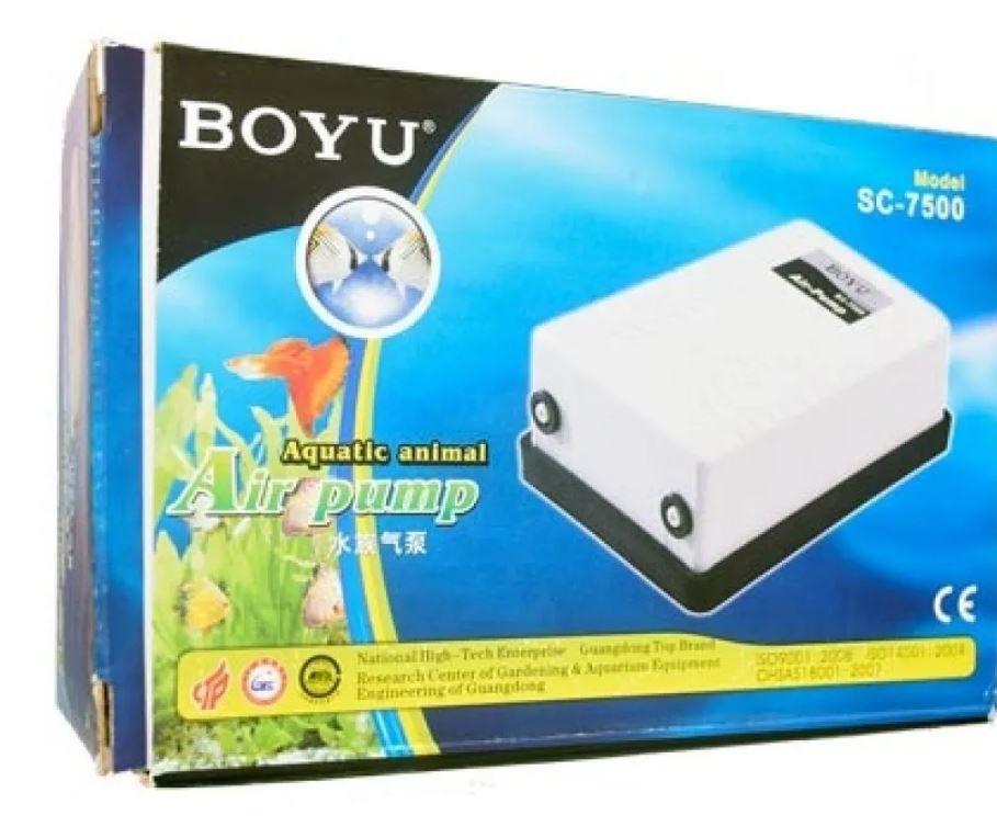 Compressor De Ar Boyu Sc-7500 Aquario 2 Saidas  - FISHPET Comércio de Acessórios para Animais Ltda.