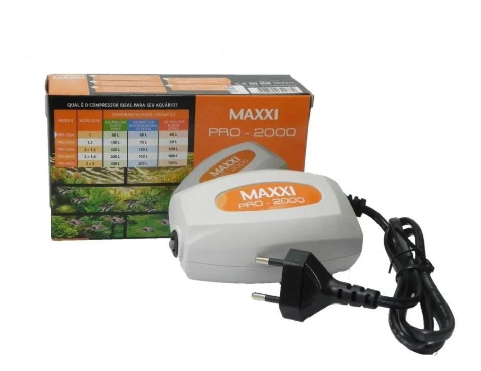 Compressor De Ar Maxxi Power Pro-2000 2.5w  - FISHPET Comércio de Acessórios para Animais Ltda.
