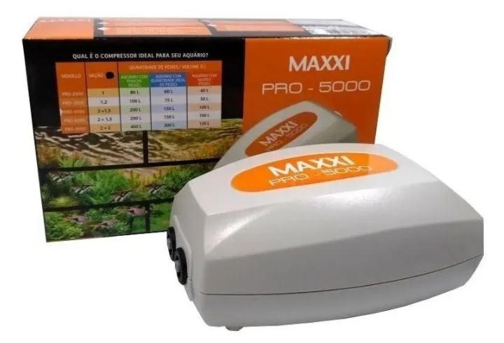 Compressor De Ar Maxxi Power Pro-5000 5w  - FISHPET Comércio de Acessórios para Animais Ltda.