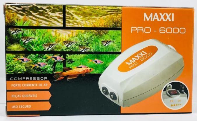 Compressor Oxigenador Para Aquários Maxxi Pro 6000   - FISHPET Comércio de Acessórios para Animais Ltda.