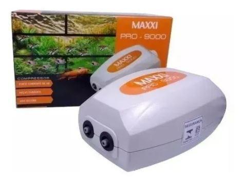 Compressor Oxigenador Para Aquários Maxxi Pro 9000 2 Saída de ar  - FISHPET Comércio de Acessórios para Animais Ltda.