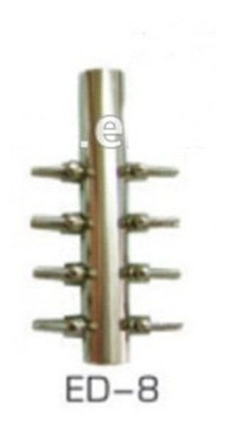 Divisor de ar Aleas ED 8 Metal 8 Saídas  - FISHPET Comércio de Acessórios para Animais Ltda.
