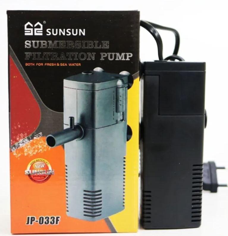 Filtro Interno Com Bomba Sunsun Jp-033F  - FISHPET Comércio de Acessórios para Animais Ltda.