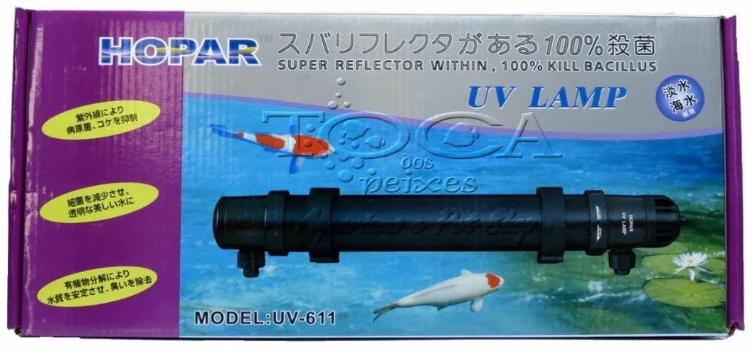 Filtro Ultravioleta Hopar Uv-611 11w Para Aquários E Lagos  - FISHPET Comércio de Acessórios para Animais Ltda.