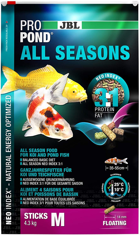 Jbl Propond All Seasons M 4,3kg Ração Para Carpas De Lagos  - FISHPET Comércio de Acessórios para Animais Ltda.