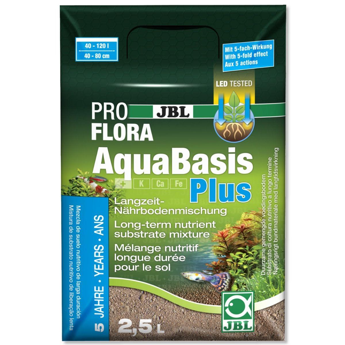JBL Substrato Fertil AquaBasis Plus - 2,5L  - FISHPET Comércio de Acessórios para Animais Ltda.