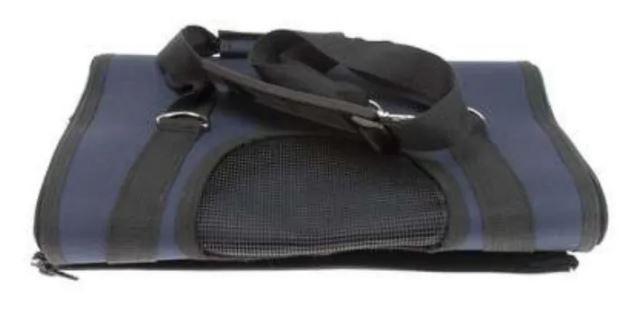 Mala Fitch Para Transporte De Cães E Gatos Azul  - FISHPET Comércio de Acessórios para Animais Ltda.