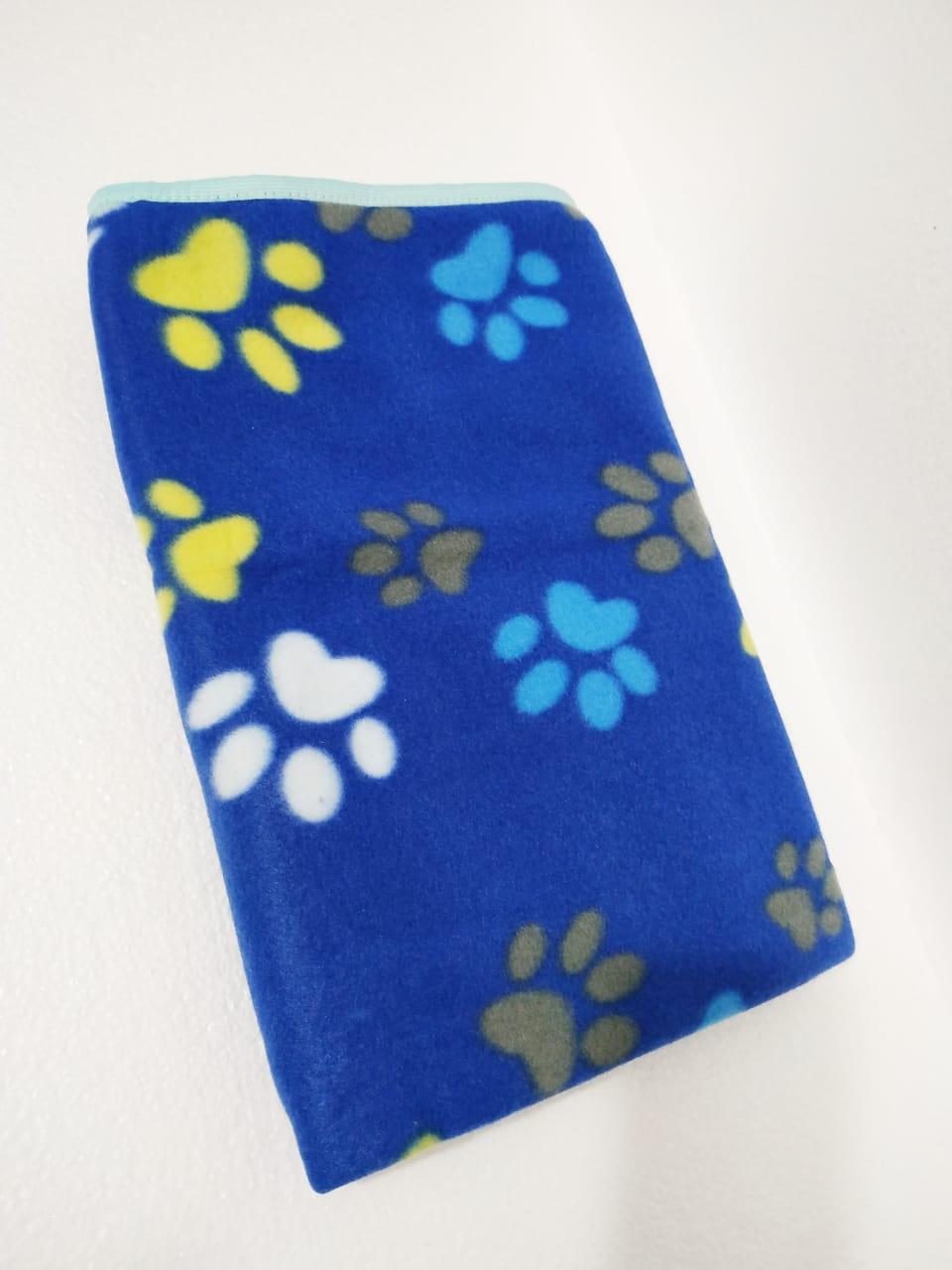 Manta Cobertor Soft Para Pet Cachorro E Gato Azul  - FISHPET Comércio de Acessórios para Animais Ltda.