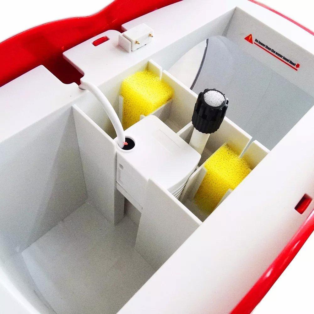 Mini Aquário Sunsun Yb-02 4,5 Lts Vermelho Bivolt  - FISHPET Comércio de Acessórios para Animais Ltda.