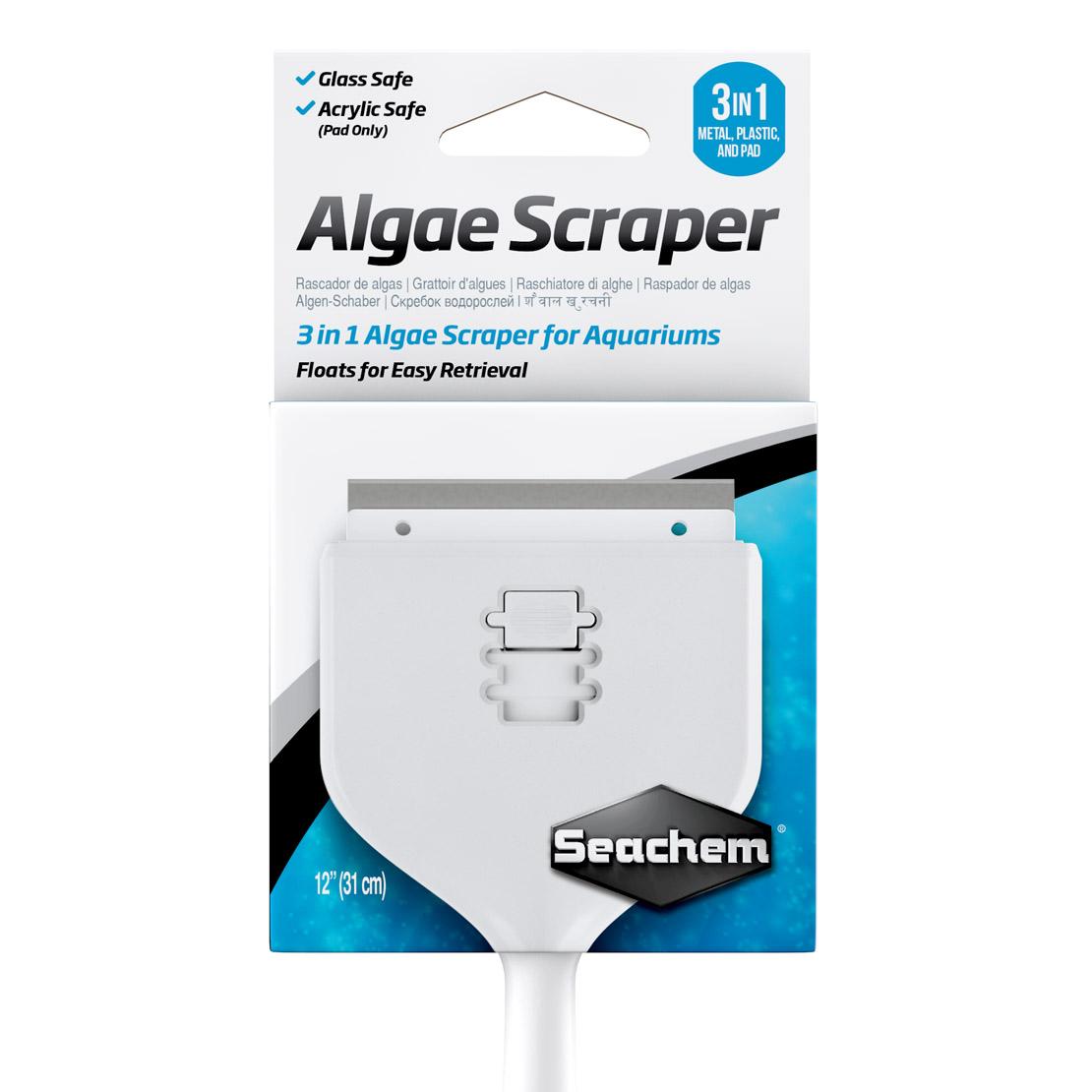 Seachem raspador de algas Algae Scraper 3 em 1  31cm  - FISHPET Comércio de Acessórios para Animais Ltda.