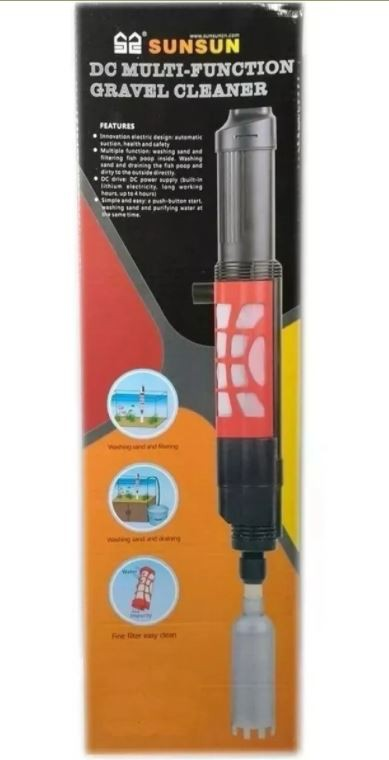 Sifão Elétrico Para Limpeza Sunsun Hxs-01 350l/h 6w Aquarios 110V  - FISHPET Comércio de Acessórios para Animais Ltda.