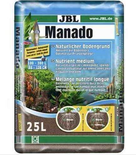 Substrato Fértil Jbl Manado 25 Litros P/ Aquários Plantados  - FISHPET Comércio de Acessórios para Animais Ltda.