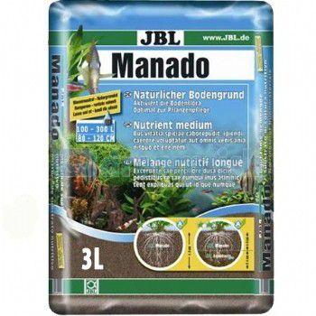 Substrato Fértil Jbl Manado 3 Litros P/ Aquários Plantados  - FISHPET Comércio de Acessórios para Animais Ltda.