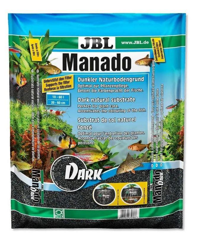 Substrato Natural Escuro Para Aquários Jbl Manado Dark - 5L  - FISHPET Comércio de Acessórios para Animais Ltda.