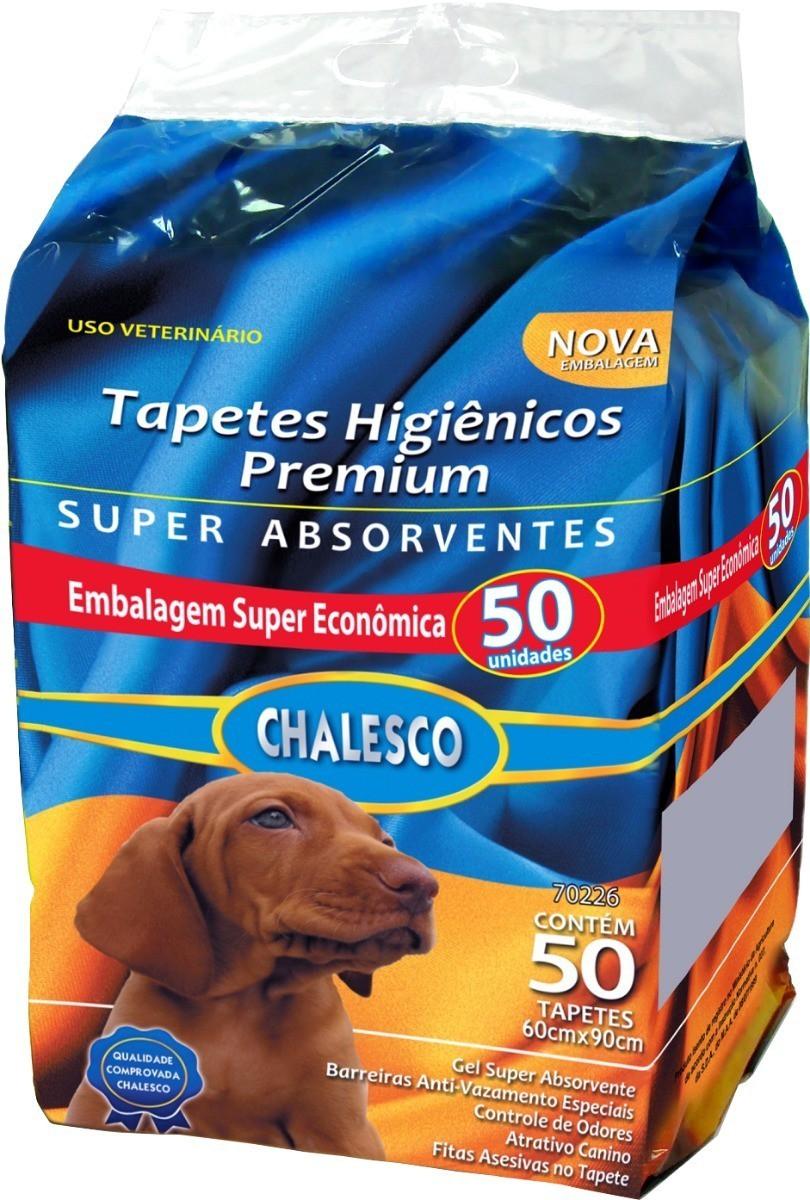 Tapete Higiênico Chalesco P/ Cães 1 Pacote Com 50 Unidades  - FISHPET Comércio de Acessórios para Animais Ltda.
