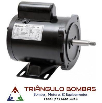 b3d97bbab18 MOTOR NOVA 1 2CV MONOFÁSICO 110 220V ABERTO IP21 PARA BOMBA - Triângulo  Bombas