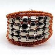 BRACELETE DE  MISSANGAS Orange Beads