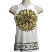 Camiseta Regata modelo wellow mandala