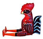 Marionete de Galo em madeira