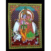 Pano Indiano Decorativo Rama Sita True Love