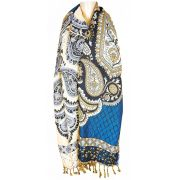 Pashmina Indiana Blue Chess