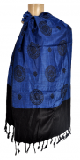 Pashmina Indiana Blue Circle