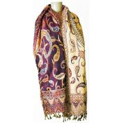 Pashmina Indiana Purple Abstract