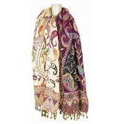 Pashmina Indiana Purple Flower