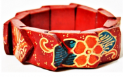 Pulseira Balinesa Woodwork Red Beauty