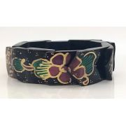 Pulseira Balinesa Woodwork Purple Flower