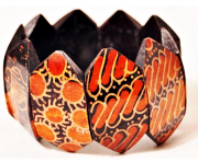 Pulseira Balinesa Woodwork Orange Theeth