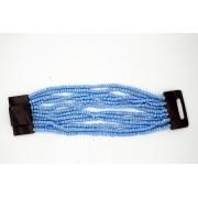 pulseira em missanga azul