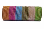 pulseira indiana em metal colorido