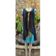Vestido Indiano Night Cyan